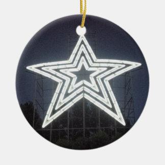 Roanoke Virginia Star Ceramic Ornament