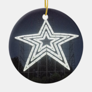 Roanoke Virginia Star Round Ceramic Ornament