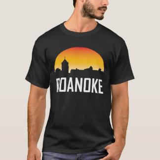 Roanoke Virginia Sunset Skyline T-Shirt