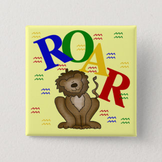 Roar Lion T-shirts and Gifts 2 Inch Square Button