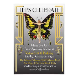 Roaring 20 s Art Deco Flapper Party Invitation