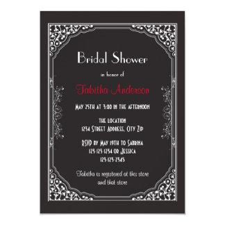 Roaring 20s Black - Bridal Shower Invitation