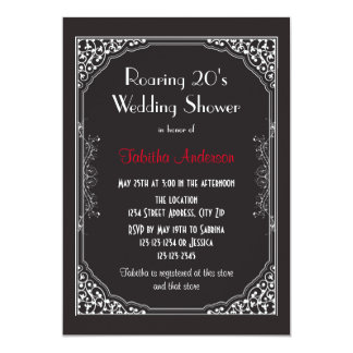 Roaring 20s Black - Wedding Shower Invitation