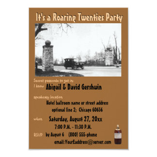 Roaring 20's Prohibition Theme Card
