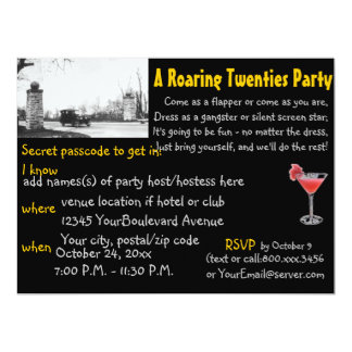 Roaring 20's ProhibitionTheme Party Black Card