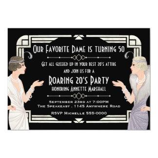 Roaring 20's Speakeasy Birthday Card