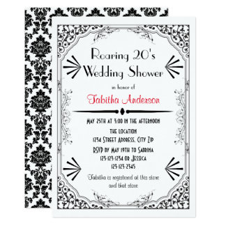 Roaring 20s - Wedding Shower Invitation