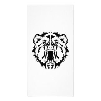 Roaring bear photo greeting card