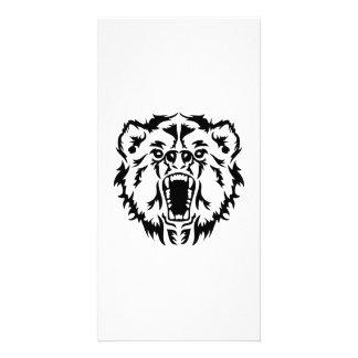 Roaring bear custom photo card