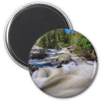 Roaring Colorado Ouzel Creek 2 Inch Round Magnet