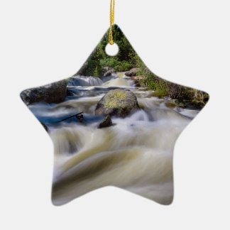 Roaring Colorado Ouzel Creek Ceramic Ornament