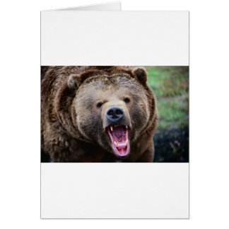 Roaring Grizzly Bear Greeting Cards