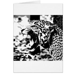 Roaring Jaguar Card