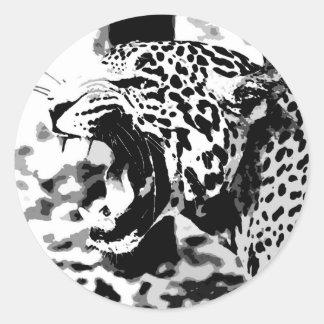 Roaring Jaguar Classic Round Sticker