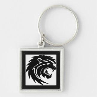 Roaring lion head keychain