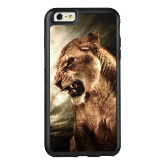 Roaring lioness against stormy sky OtterBox iPhone 6/6s plus case
