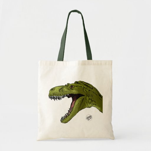 Roaring T-Rex Dinosaur by Geraldo Borges Canvas Bag