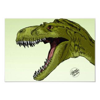 Roaring T-Rex Dinosaur by Geraldo Borges Card