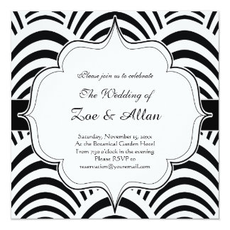Roaring Twenties Art Deco Jazz Wedding Invitation