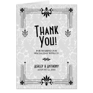 Roaring Twenties Art Deco Wedding Thank You Card