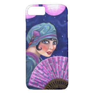 Roaring Twenties Flapper Girl Fan Moon Stars iPhone 8/7 Case