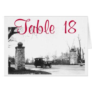 Roaring Twenties Party Table Number Note Card
