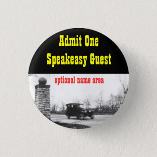 Roaring Twenties Prohibition Theme Name Badge 1 Inch Round Button