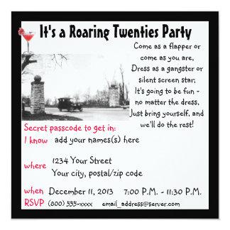Roaring Twenties Speakeasy Theme Party Card
