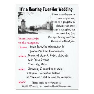 Roaring Twenties Theme Wedding Card