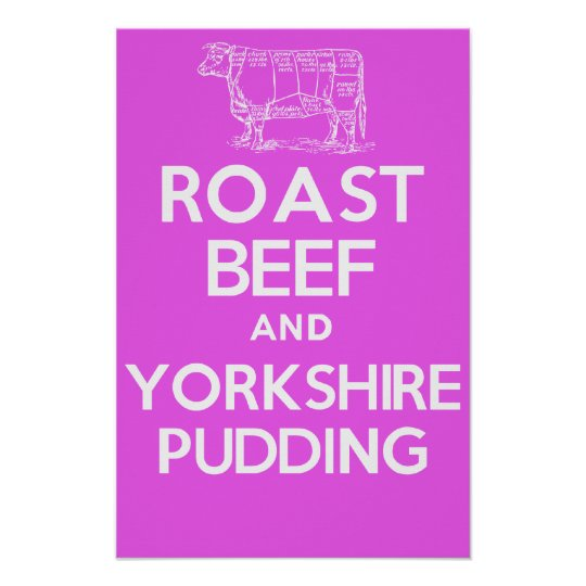 Roast Beef and Yorkshire Pudding (Pink) Poster
