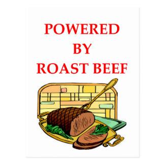 ROAST BEEF POSTCARD