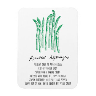 Roasted Asparagus Recipe Magnet
