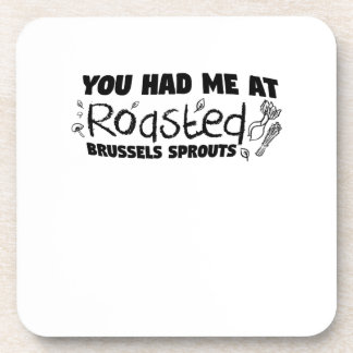 Roasted Brussels Vegetarian  Chef  Gift Coaster