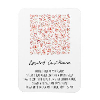 Roasted Cauliflower Recipe Magnet