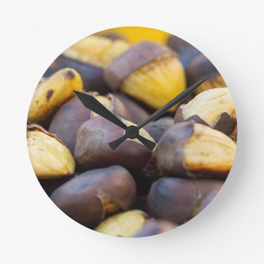 roasted chestnuts round clock