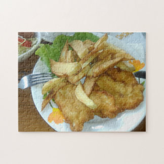 Roasted Chicken Breasts With Fried Potatoes Jigsaw Puzzle