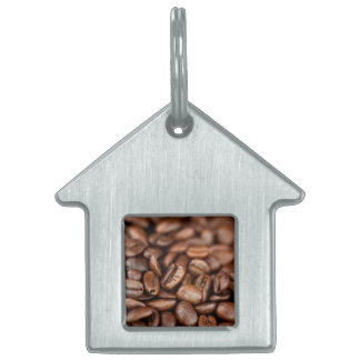 Roasted Coffee Beans Pet Name Tag