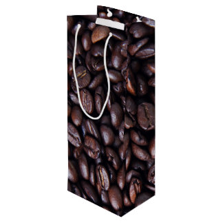 Roasted coffee beans wine gift bag