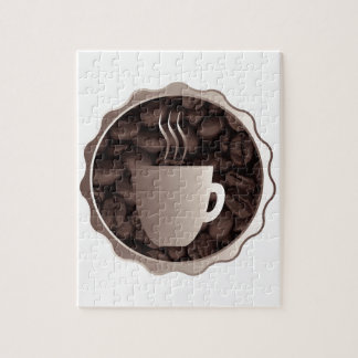 Roasted Coffee Cup Sign Jigsaw Puzzle