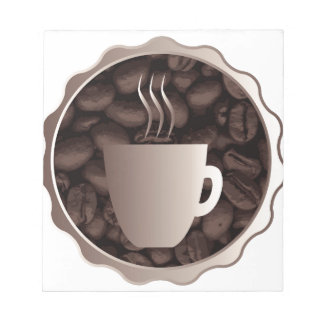Roasted Coffee Cup Sign Notepads