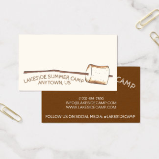 Roasted Toasted Marshmallow Camping Summer Camp Business Card