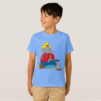 Roasting Peanuts Elephant Sheriff T-Shirt