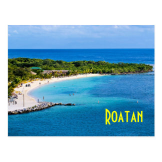 Roatan Beach Postcard
