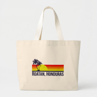 Roatan Honduras Large Tote Bag