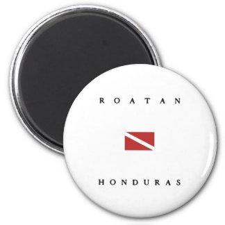 Roatan Honduras Scuba Dive Flag Magnet