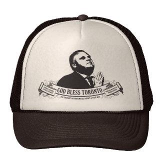 Rob Ford - God bless Toronto vintage design Hat
