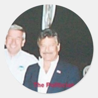 rob politician classic round sticker