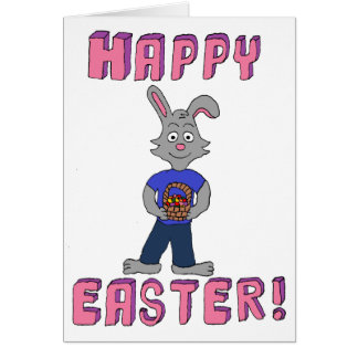 Rob Rabbit Happy Easter Greeting Card