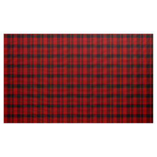 Rob Roy Tartan Red and Black Plaid Fabric