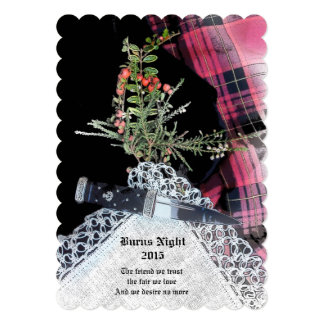 Robbie Burns Casual dinner invitation